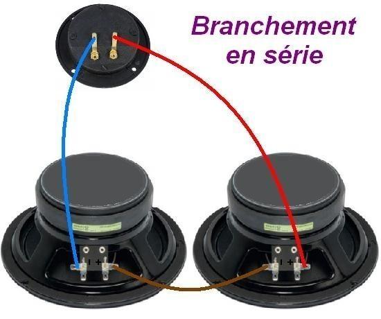 Brancher 2 haut parleurs ensemble astuces pratiques for Branchement eclairage exterieur en serie