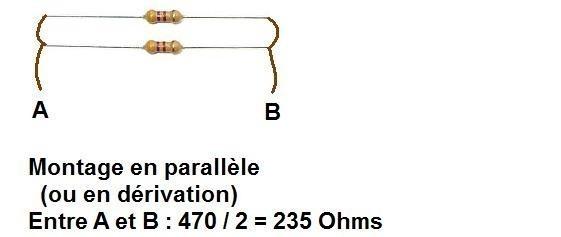 brancher deux resistances en serie ou parallele 2