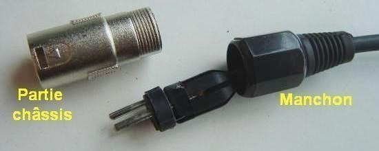 cable xlr jack micro realisation 8