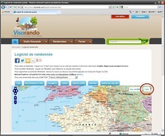 carte ign gratuite en ligne avec visorando 2