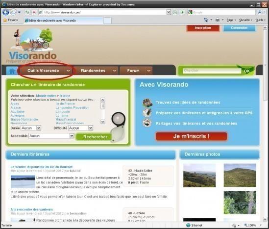 carte ign gratuite en ligne avec visorando 0