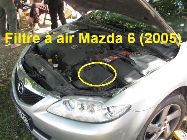 Changer filtre à air Mazda 6