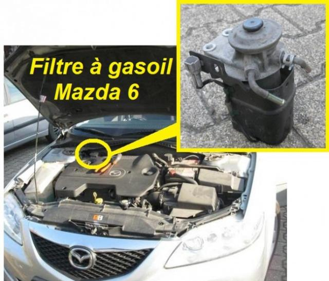 Changer filtre gasoil Mazda 6