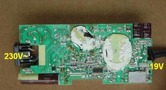 chargeur de pc portable 19v 120w composants 1