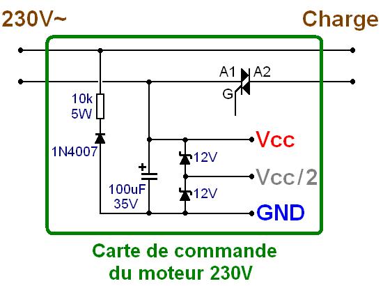 commande d un triac par micro electret pour jeu de lumiere 1