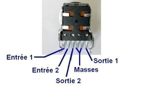 comment brancher un potentiometre stereo 2