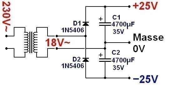 conception d ampli a lm1875 1x 20w 3