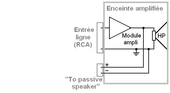connexion enceinte active et ampli 1
