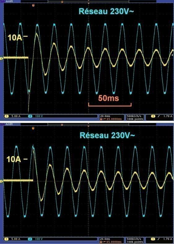 consommation d une ampoule halogene incandescence au demarrage 2