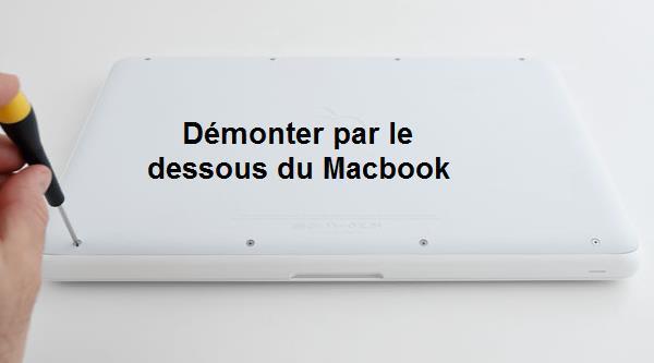 Démonter disque dur Macbook blanc