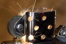 faire un feu d artifice avec un briquet a roulette 1