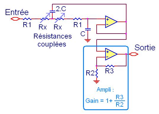 filtre actif passe bas pour caisson de basse 8