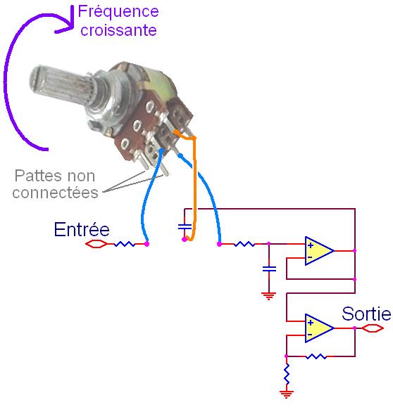 filtre actif passe bas pour caisson de basse 10