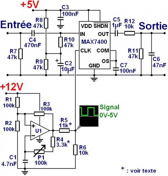 filtre passe bas d ordre 8 audio avec max7400 1