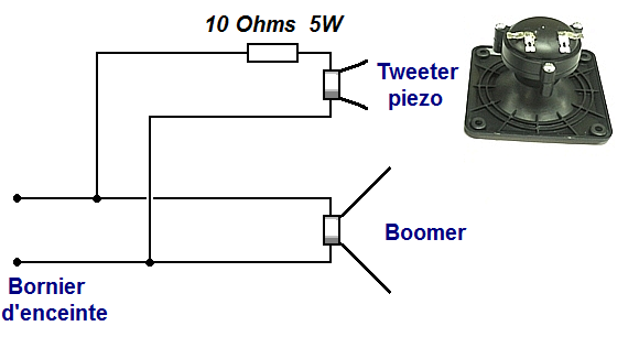 Filtre simple pour tweeter piezo