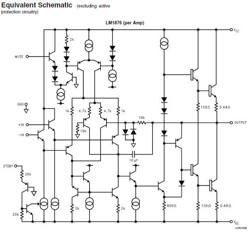 fonction silencieux mute de l ampli lm1876 4