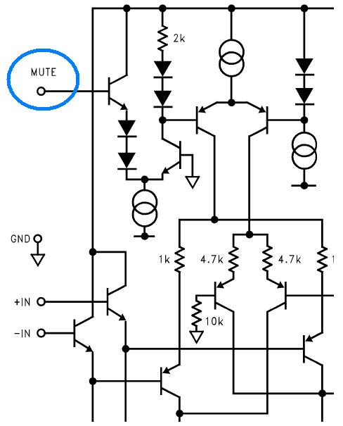 fonction silencieux mute de l ampli lm1876 5