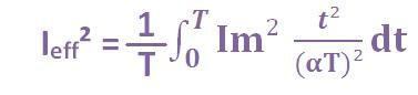 formule du courant efficace triangle 3