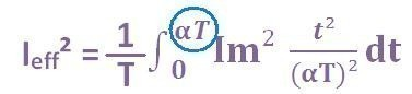 formule du courant efficace triangle 4