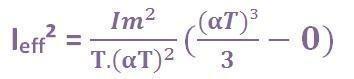 formule du courant efficace triangle 5