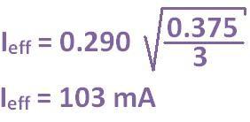 formule du courant efficace triangle 10