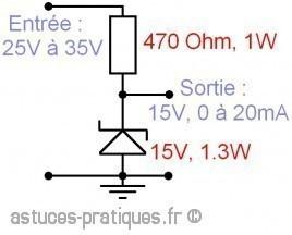 la diode zener calcul dimensionnement 1