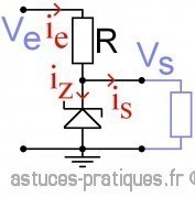 La diode zener: calcul, dimensionnement