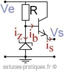 La diode zener:  transistor ballast série