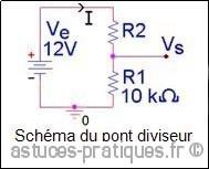 la resistance pont diviseur de tension 0