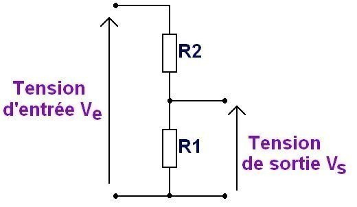 le pont diviseur de tension 3
