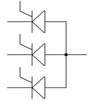 le thyristor association anode et cathode commune 2