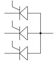 le thyristor association anode et cathode commune 2