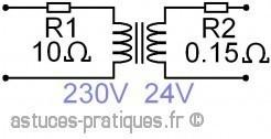 le transformateur resistance des enroulements 3
