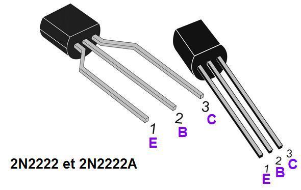 Le transistor 2n2222 et 2n2222a astuces pratiques for Le transistor
