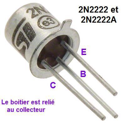 le transistor 2n2222 et 2n2222a 0