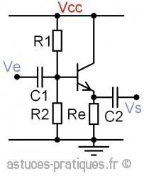 le transistor bipolaire collecteur commun 0