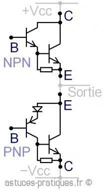 Le transistor bipolaire paire de sziklai astuces pratiques for Le transistor