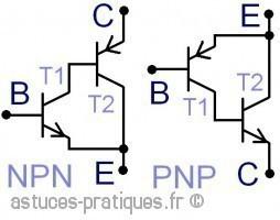 Le transistor bipolaire: paire de Sziklai