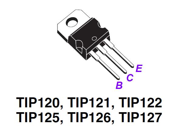 le transistor tip127 0
