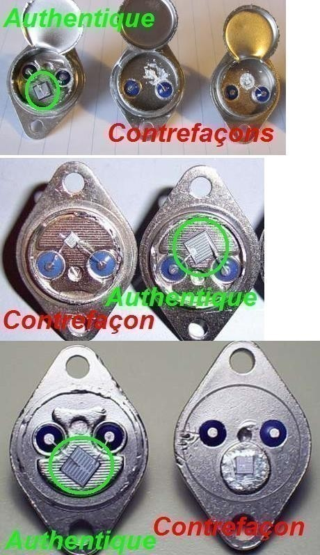 Les contrefaçons de transistors