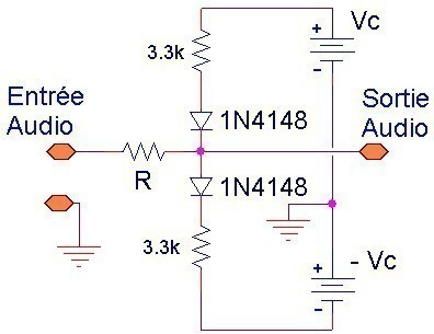 limiteur audio simple schema et mesures 1