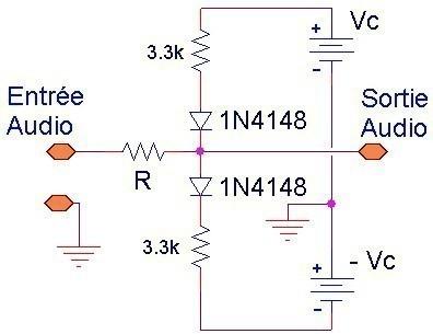limiteur audio simple schema et mesures 1