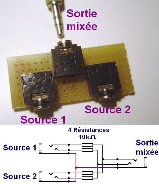 Mélangeur audio passif ultra simple