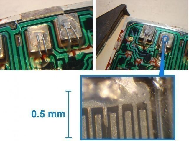 micro electronique vue interne d un circuit integre 4