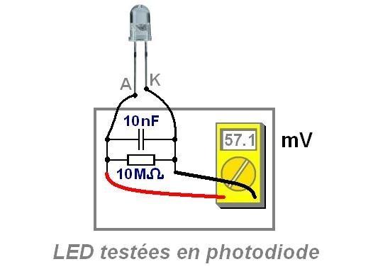 Montage de LED comme photodiode