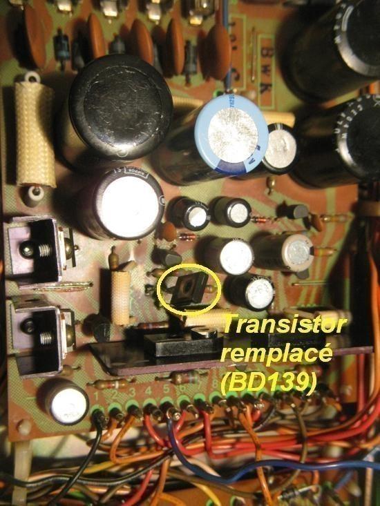 panne sur ampli pioneer sx 5570 2