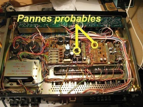 panne sur ampli pioneer sx 5570 0