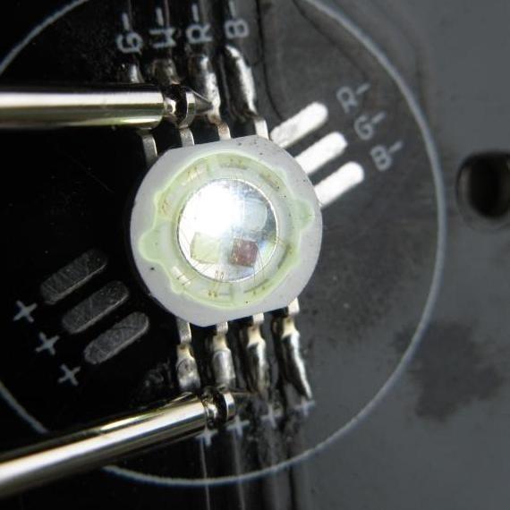 par64 rgbw 7 led 7x10w flat 10