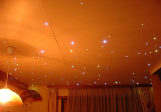 Plafond toil led r alisation for Plafond chambre etoile