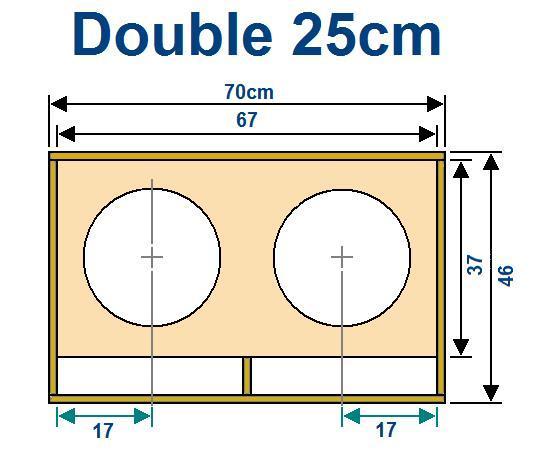 plan caisson de basse double 25cm 0